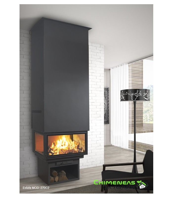 CHIMENEA METÁLICA FRONTAL POWER VISION 270 C2