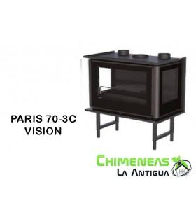 INSERTABLE DE LEÑA PARIS 70-3C VISION