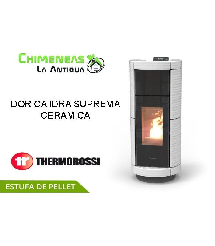 ESTUFA DE PELLET DORICA IDRA SUPREME CERÁMICA