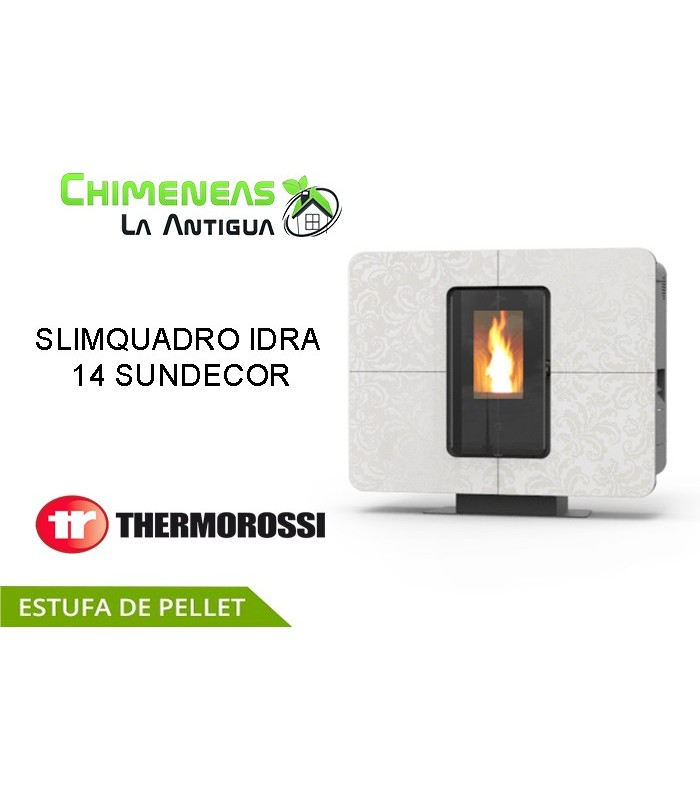 ESTUFA DE PELLET SLIMQUADRO IDRA 14 SUNDECOR