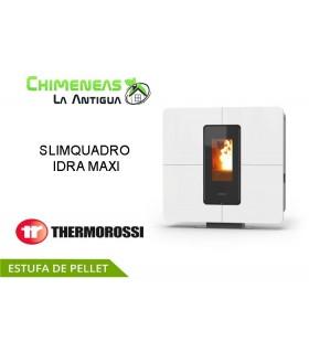 ESTUFA DE PELLET SLIMQUADRO IDRA MAXI