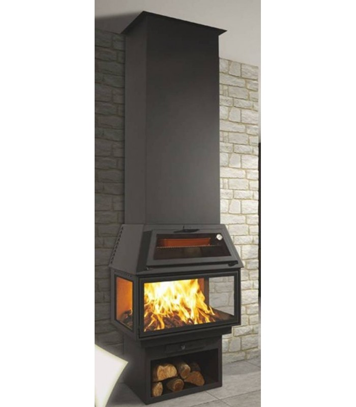 CHIMENEA METÁLICA FRONTAL CON HORNO POWER VISION 270 C1 H