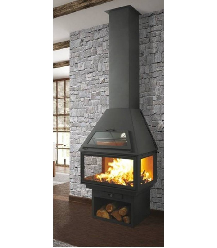 CHIMENEA METÁLICA FRONTAL CON HORNO POWER VISION 270 C3 H
