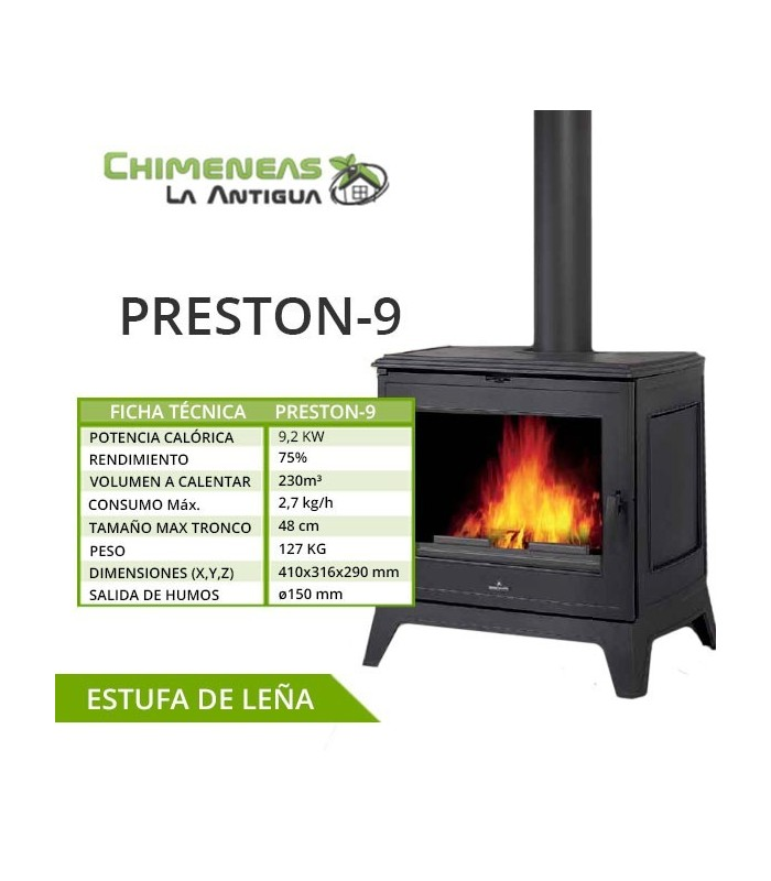 ESTUFA DE FUNDICIÓN PRESTON-9
