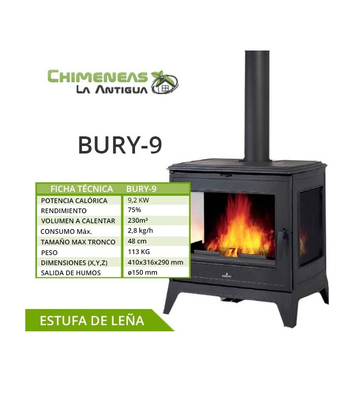 ESTUFA DE FUNDICIÓN BURY-9