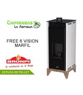 ESTUFA DE PELLET SIN ELECTRICIDAD FREE 6 VISION
