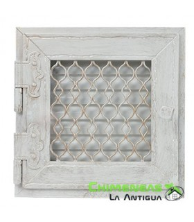REJILLA RETRO 17X17 CM BLANCO SIMPLE