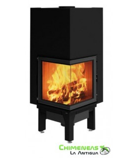 CHIMENEA DE LEÑA SIDE PLUS 50X50 V