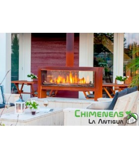CHIMENEA DE GAS EXTERIOR THE MOOD (DOBLE CARA)