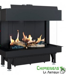 CHIMENEA DE GAS LEO 70 FRONTAL